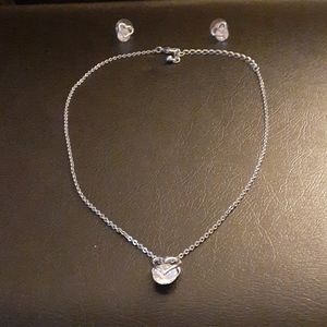 Reitman's Matching Heart Earrings and Necklace